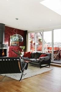 röd lägenhet