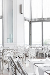 vit restaurang